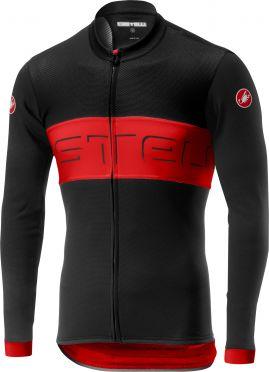 Castelli Prologo VI FZ fietsshirt lange mouw zwart/rood heren