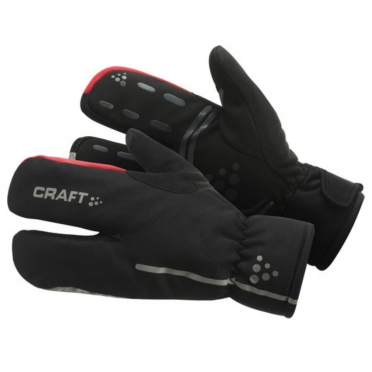 Craft Thermal Split Finger handschoenen zwart 1901624