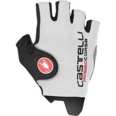 Castelli Rosso Corsa Pro handschoen wit heren