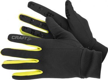 Craft Thermal multi grip hardloophandschoenen zwart/geel