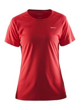 Craft Prime korte mouw hardloopshirt rood dames