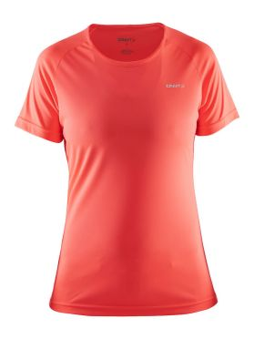 Craft Prime korte mouw hardloopshirt roze dames