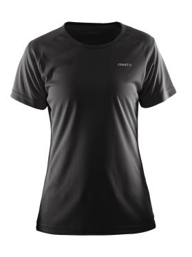 Craft Prime korte mouw hardloopshirt zwart dames