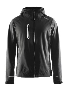 Craft Cortina soft shell winterjas zwart heren