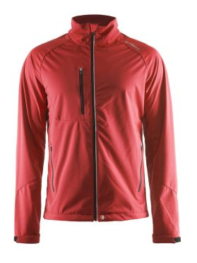 Craft Bormio soft shell winterjas rood dames