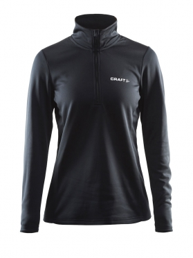 Craft Swift Half Zip Pullover dames zwart