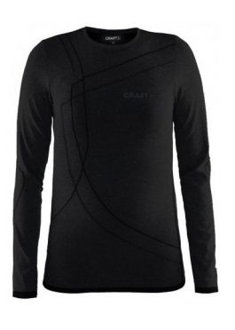 Craft Active Comfort lange mouw ondershirt zwart/solid kind/junior