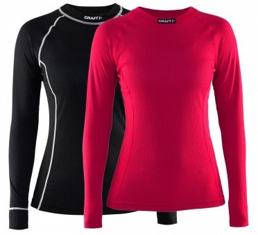 Craft Active Multi 2-pack top dames zwart roze