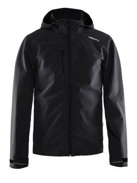 Craft Light softshell winterjas zwart heren