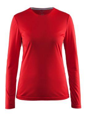 Craft Mind lange mouw hardloopshirt rood dames