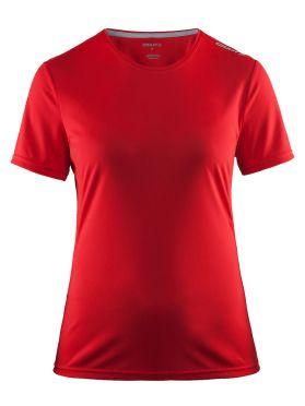 Craft Mind korte mouw hardloopshirt rood dames
