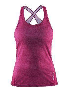 Craft Mind mouwloos hardloopshirt roze dames