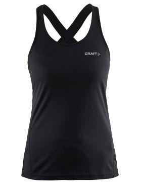 Craft Mind mouwloos hardloopshirt zwart dames
