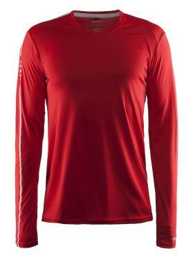 Craft Mind lange mouw hardloopshirt rood heren