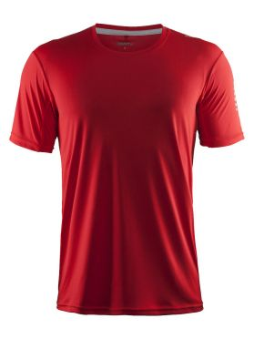 Craft Mind korte mouw hardloopshirt rood heren