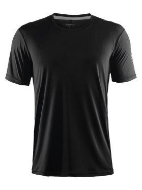Craft Mind korte mouw hardloopshirt zwart heren