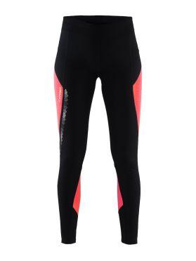 Craft Brilliant 2.0 thermal hardloopbroek zwart/roze dames
