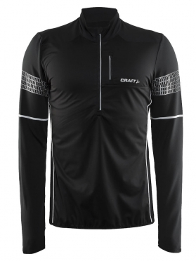 Craft Brilliant 2.0 thermal wind hardloopshirt lange mouw zwart heren