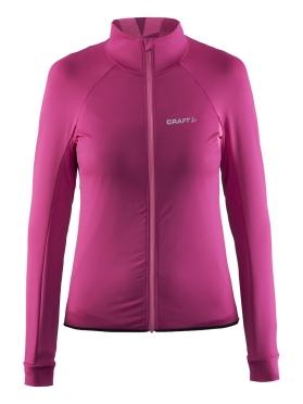 Craft Velo thermal fietsshirt lange mouw roze/smoothie dames