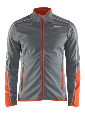 Craft Intensity softshell langlauf jack grijs heren