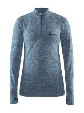 Craft Active Comfort Zip lange mouw ondershirt blauw/teal dames
