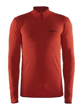 Craft Active Comfort Zip lange mouw ondershirt rood/bolt heren