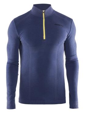 Craft Warm wool comfort rits lange mouw ondershirt blauw heren