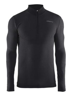 Craft Warm wool comfort rits lange mouw ondershirt zwart heren