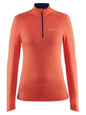 Craft Facile Halfzip Pullover dames roze oranje