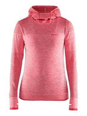 Craft Core seamless hoodie Skipully roze dames
