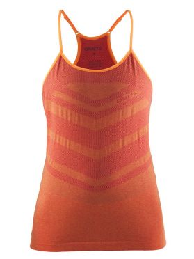 Craft cool comfort singlet mouwloos oranje/push dames
