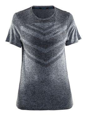 Craft Cool comfort korte mouw ondershirt zwart/melange dames