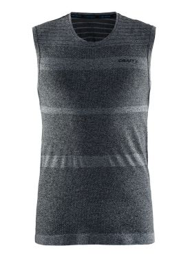 Craft cool confort mouwloos ondershirt zwart/melange heren