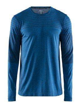 Craft cool comfort lange mouw ondershirt blauw heren