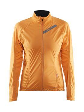 Craft belle regen fietsjacket oranje dames