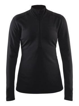 Craft Sweep halfzip Skipully zwart dames