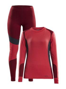 Craft Active onderkleding voordeel set rood dames