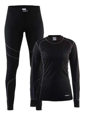 Craft Active onderkleding voordeel set zwart/granite dames