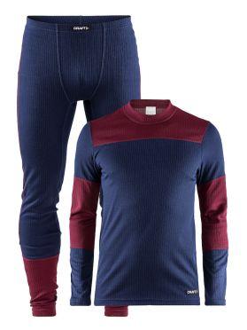 Craft Active onderkleding voordeel set blauw/rood heren