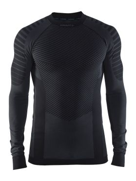 Craft Active intensity crewneck lange mouw ondershirt zwart/granite heren
