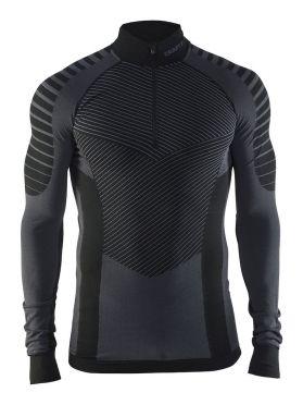 Craft Active intensity zip lange mouw ondershirt zwart/granite heren