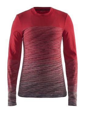 Craft wool comfort 2.0 CN lange mouw ondershirt rood dames