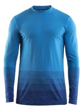 Craft wool comfort 2.0 CN lange mouw ondershirt blauw heren