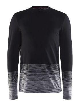 Craft wool comfort 2.0 CN lange mouw ondershirt zwart heren