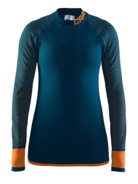 Craft warm intensity CN lange mouw ondershirt blauw dames