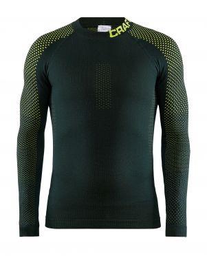 Craft warm intensity CN lange mouw ondershirt groen/geel heren