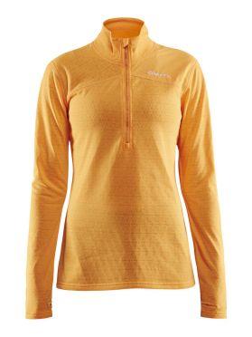 Craft Pin halfzip Skipully geel dames