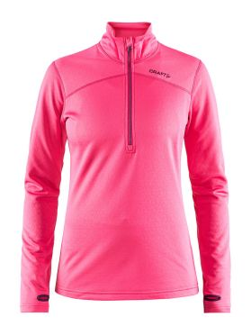 Craft Pin halfzip Skipully roze dames