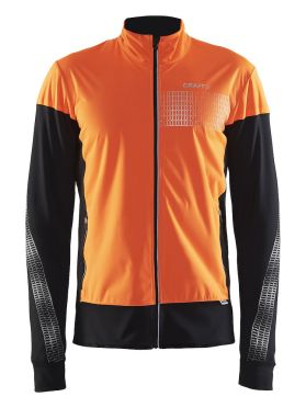 Craft Brilliant 2.0 warm hardloopjack oranje heren
