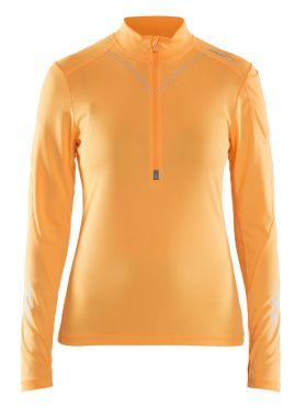Craft Brilliant 2.0 halfzip Skipully geel dames